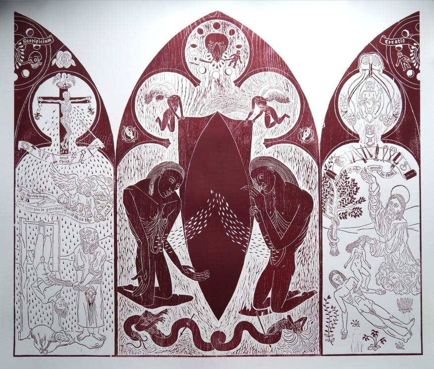 Carnal Portal Triptych. Edition of 28