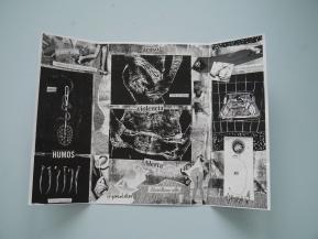 Xilo-zine fotocopiado de Grasa. Photocopied woodcut zine by Grasa.